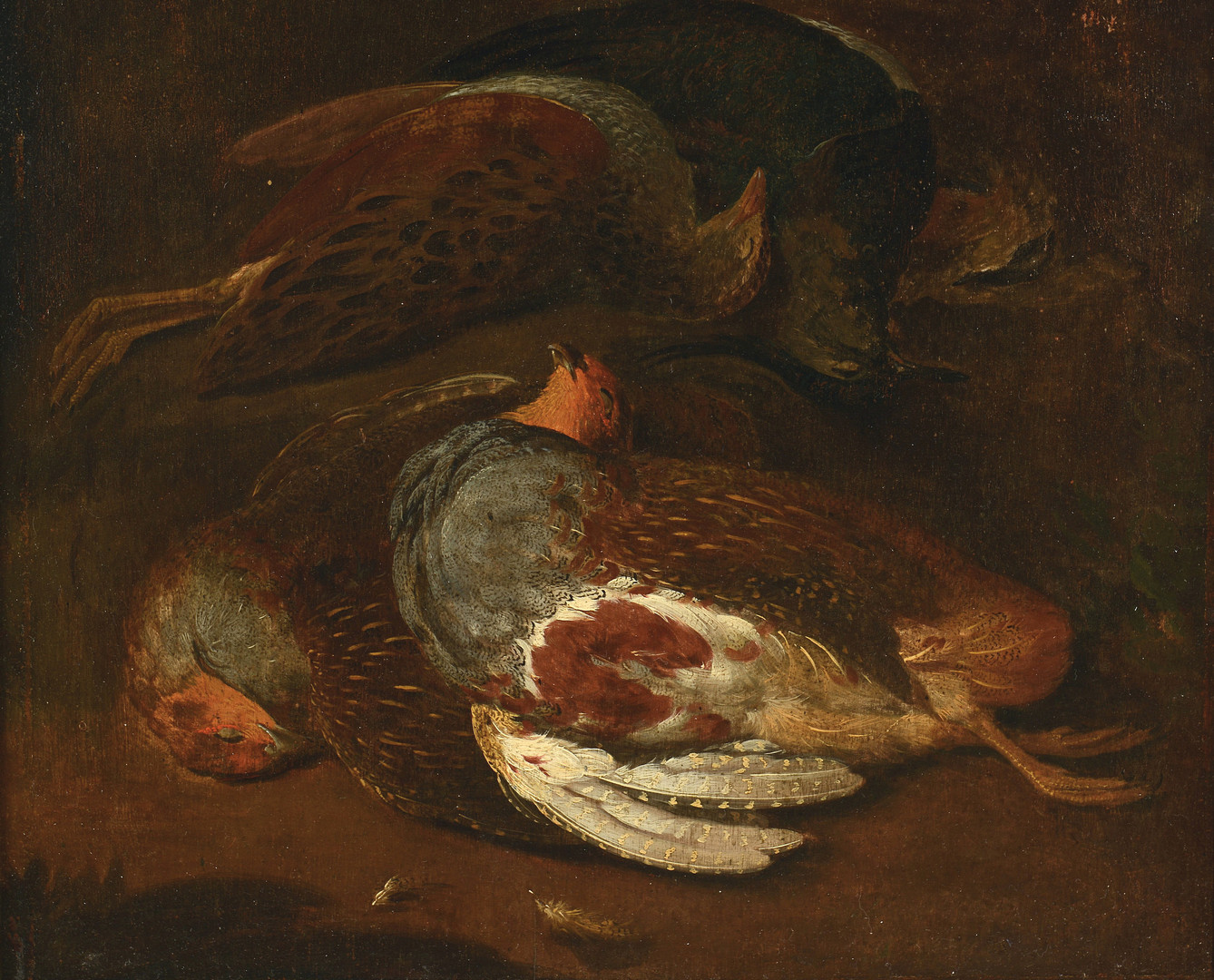 Lot 71: Attr. Geo. Morland, Pair Game Paintings