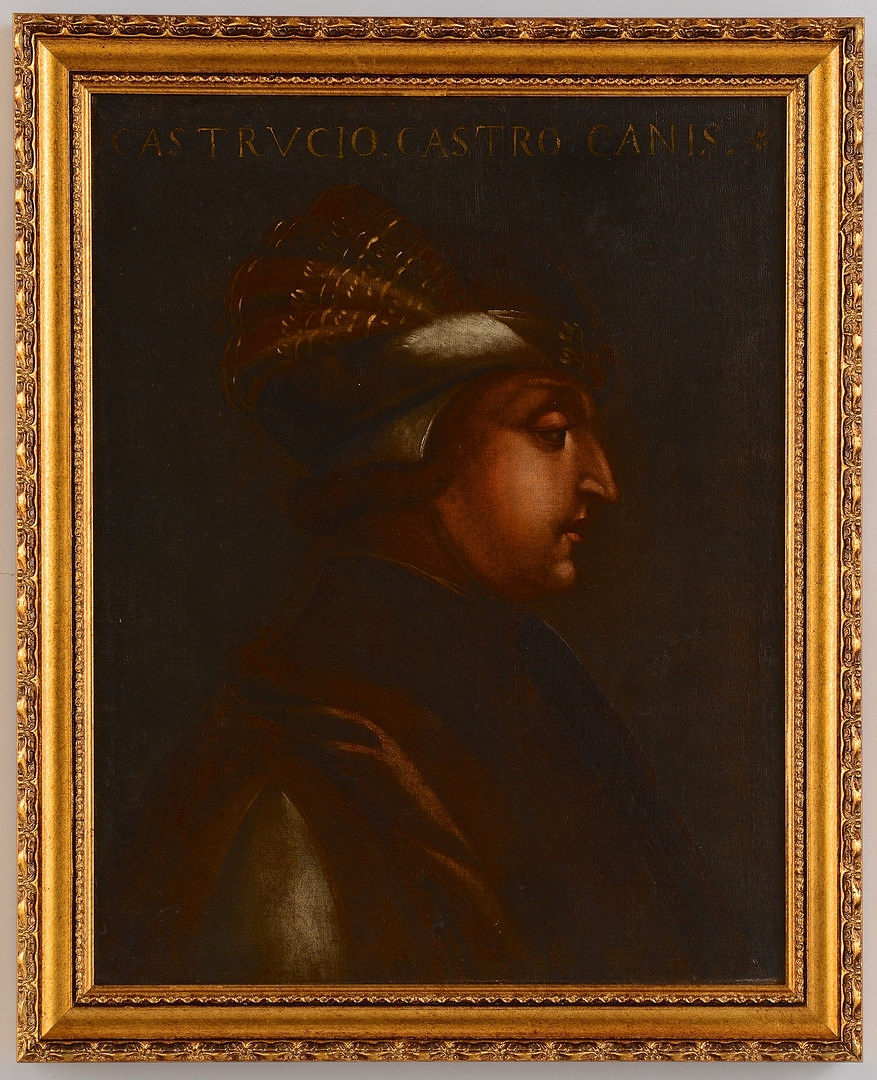 Lot 72: 16th c. Italian portrait, Castrucio Castricane