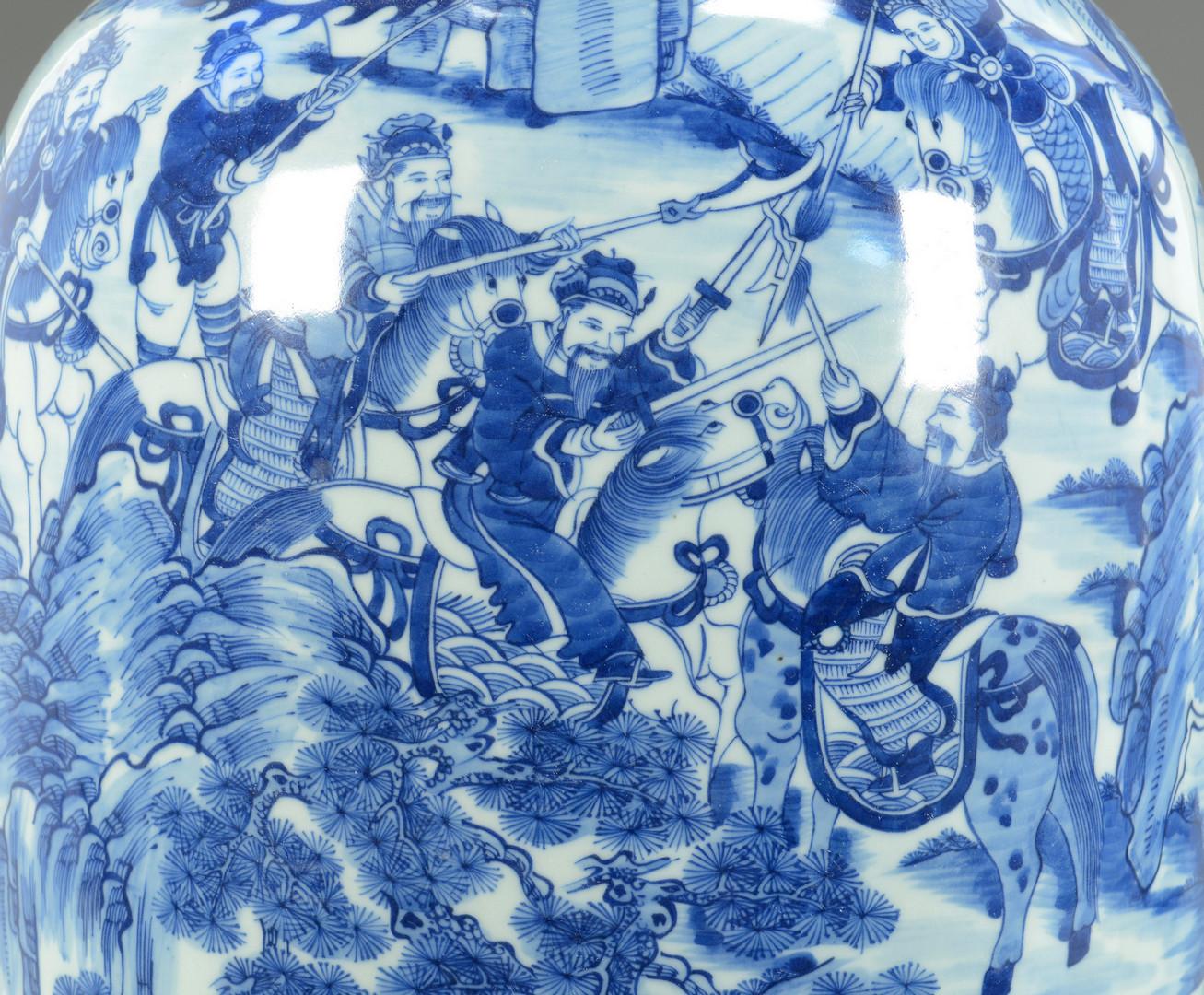 Lot 746: 2 Chinese Blue/White Porcelain Vases