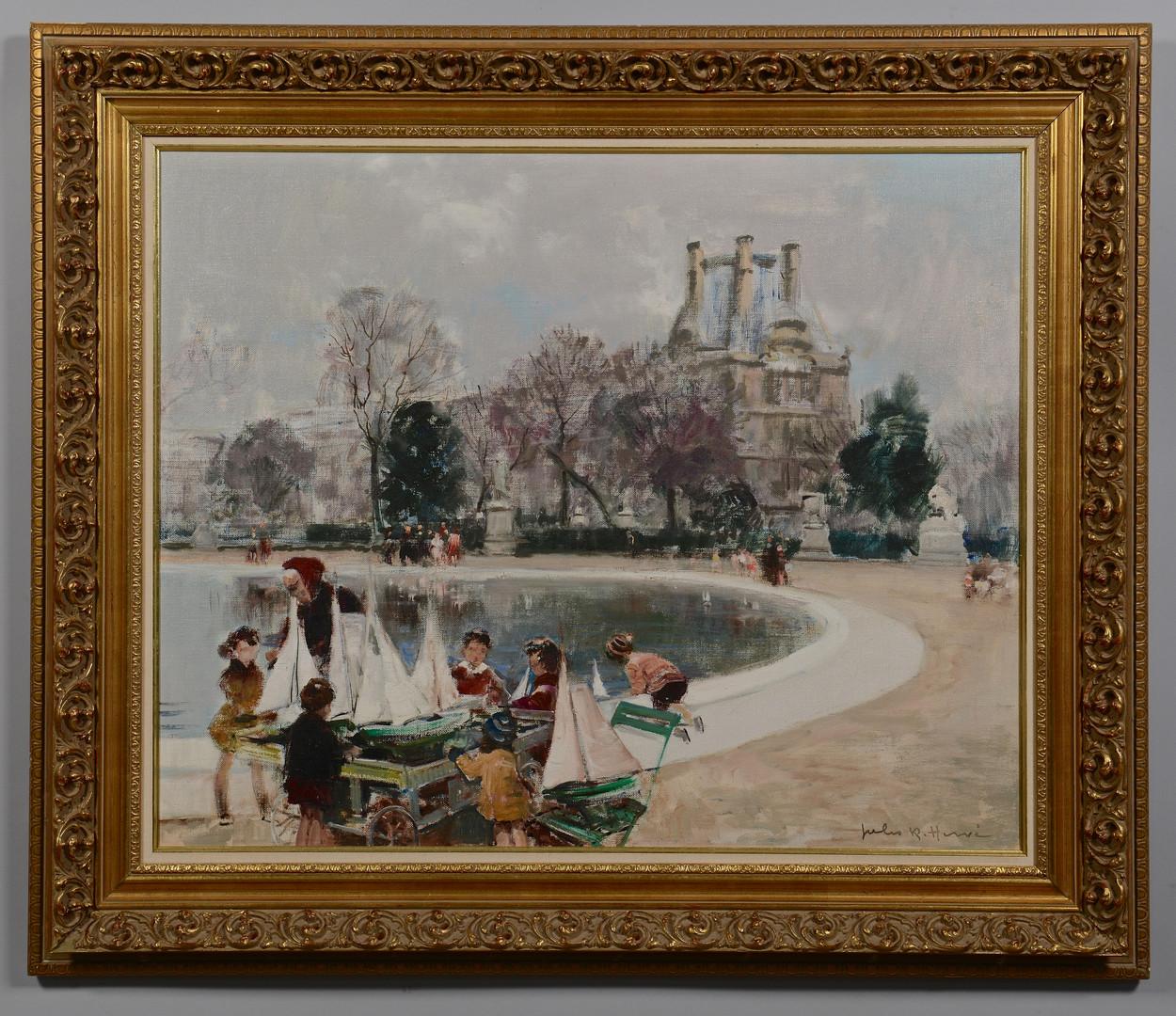 Lot 74: Jules R. Herve o/c, Pond Boats