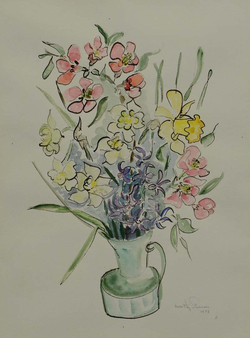 Lot 751: 4 Dorothy Strauser watercolors