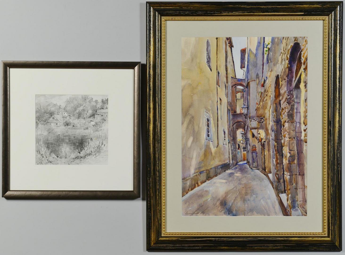 Lot 752: Three landscapes, inc Akhriev