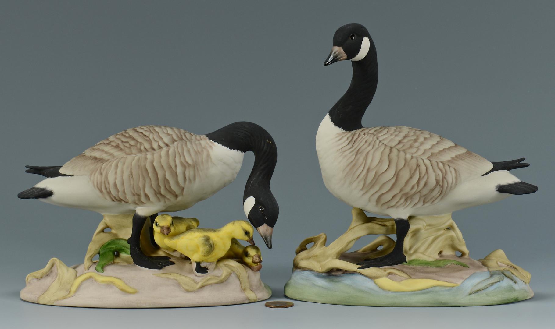 Lot 760: Pr. Boehm Porcelain Geese
