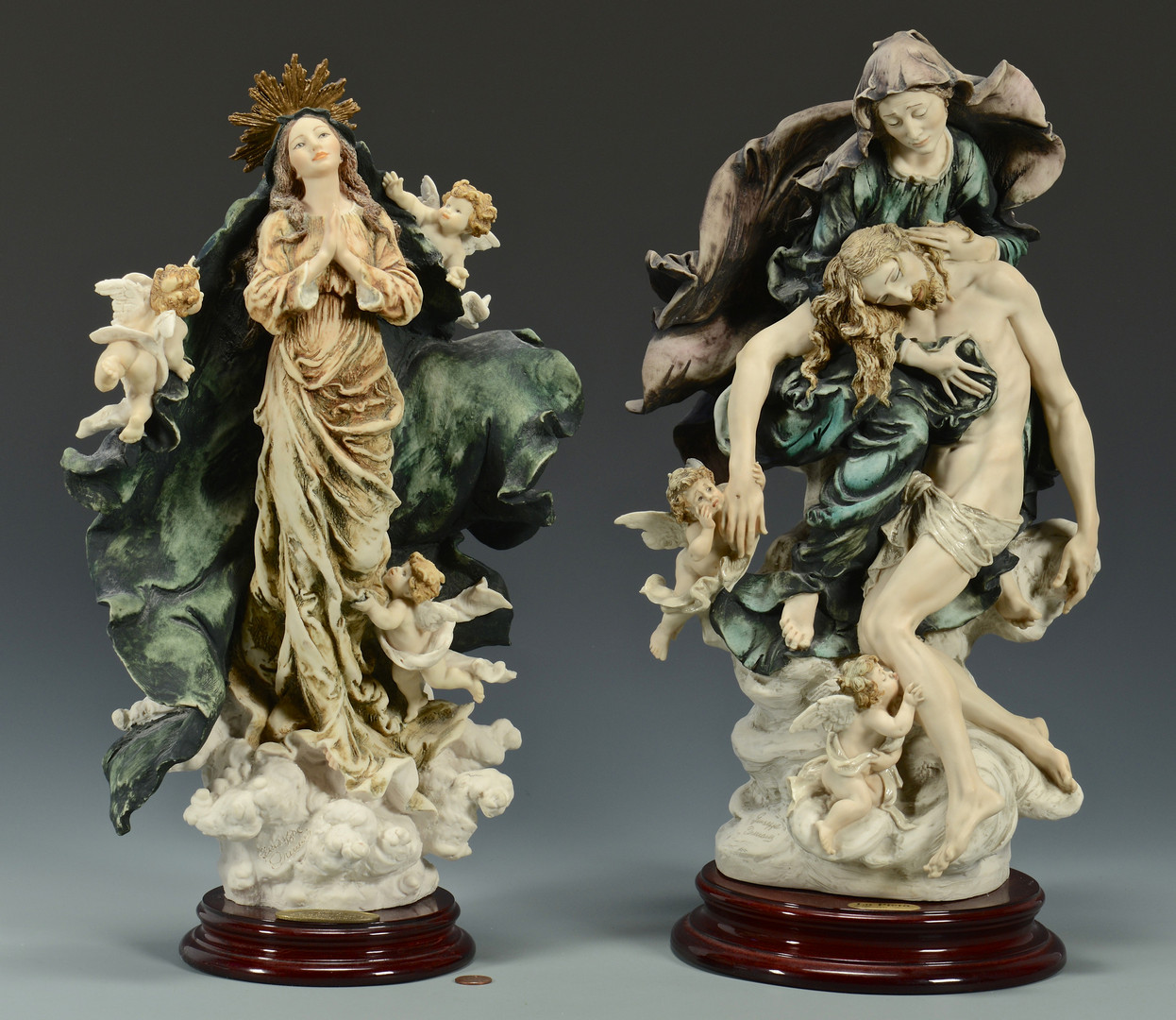 Lot 764: 2 Armani Limited Edition Religious Sculptures