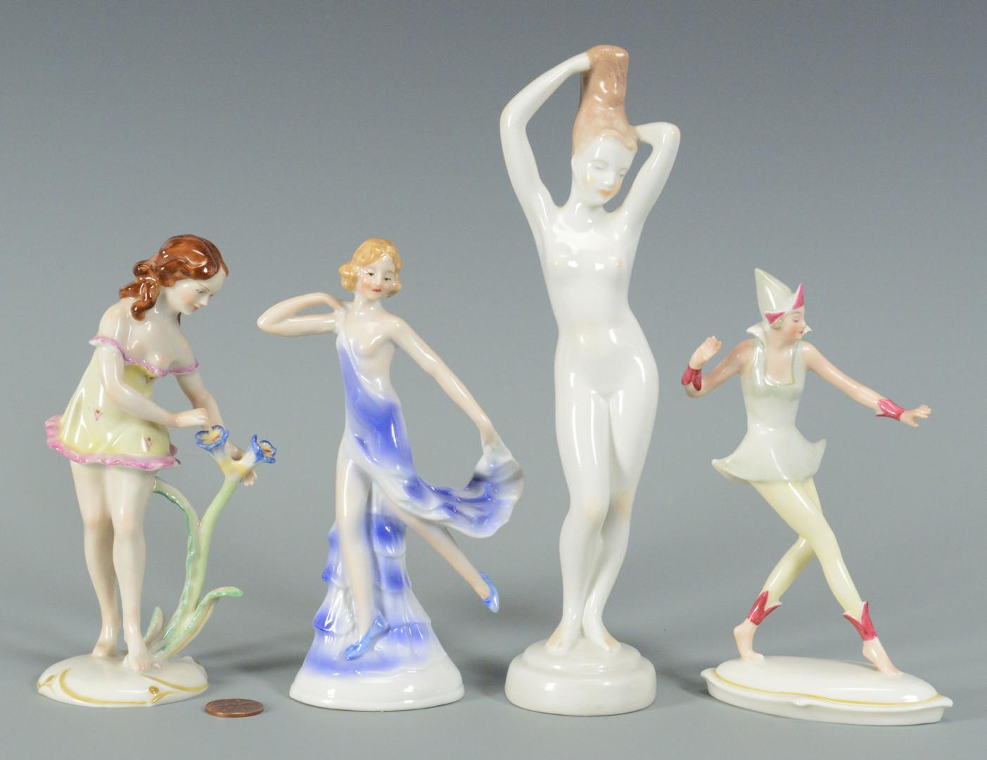 Lot 766: 8 Porcelain Nudes, 4 Parian
