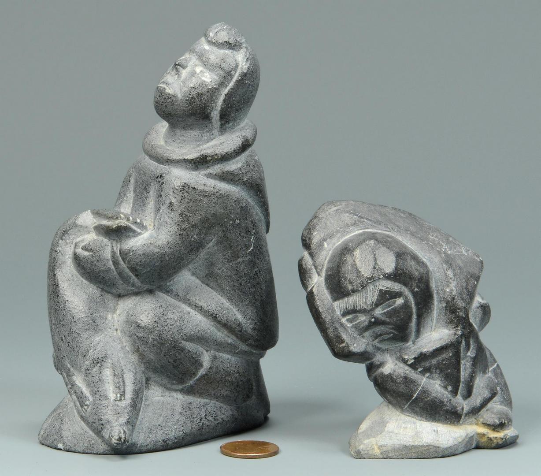 Lot 771: 6 Figures inc. SE Asian & Inuit, Leda & Swan