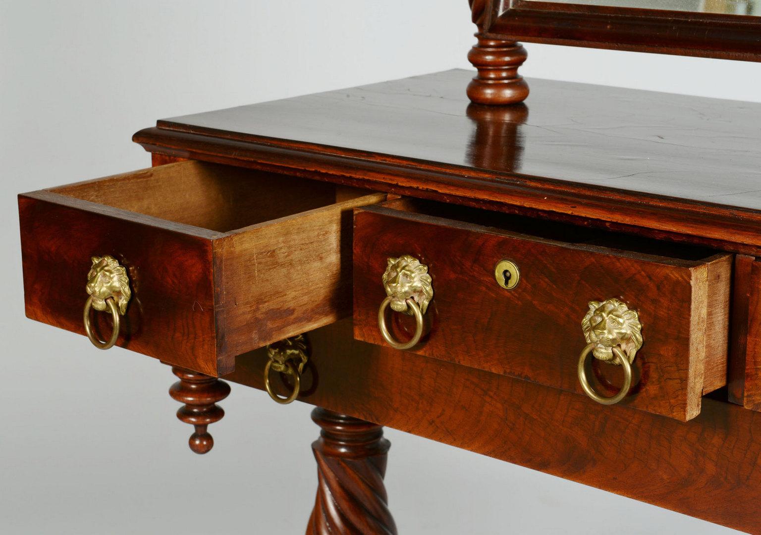 Lot 773: Classical Mahogany Dressing Table