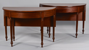 Lot 775: Pair of Mahogany Banquet Ends, W. Vincent