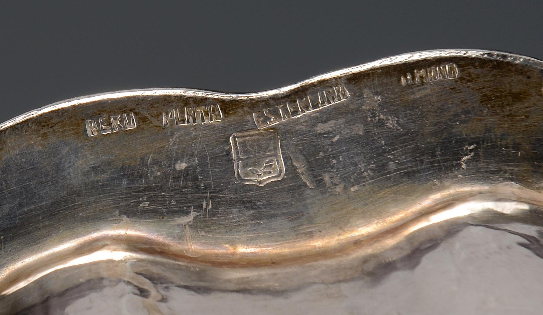 Lot 783: 2 Peru Sterling Serving Items