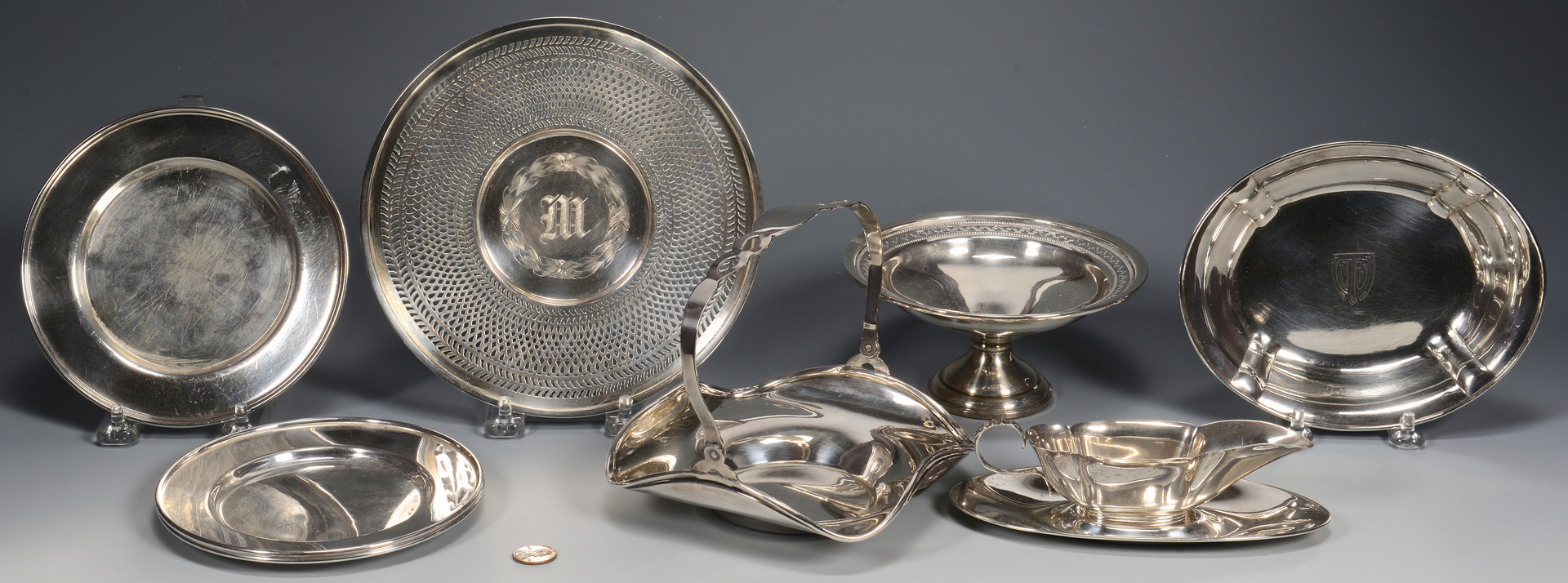 Lot 785: Grouping 20th Century Sterling Holloware, 8 pcs.