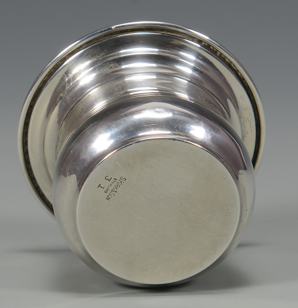 Lot 786: Kirk Silver Wine Coaster, Candy Dish & Mustard Pot