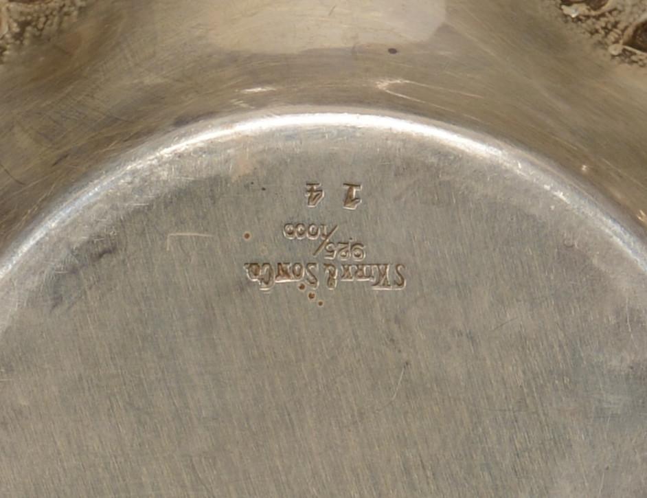 Lot 786: Kirk Silver Wine Coaster, Candy Dish & Mustard Pot