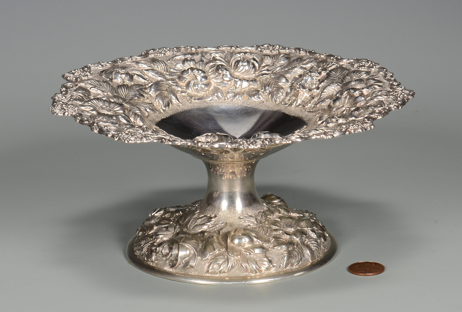 Lot 788: Stieff Sterling Compote, Baltimore Rose