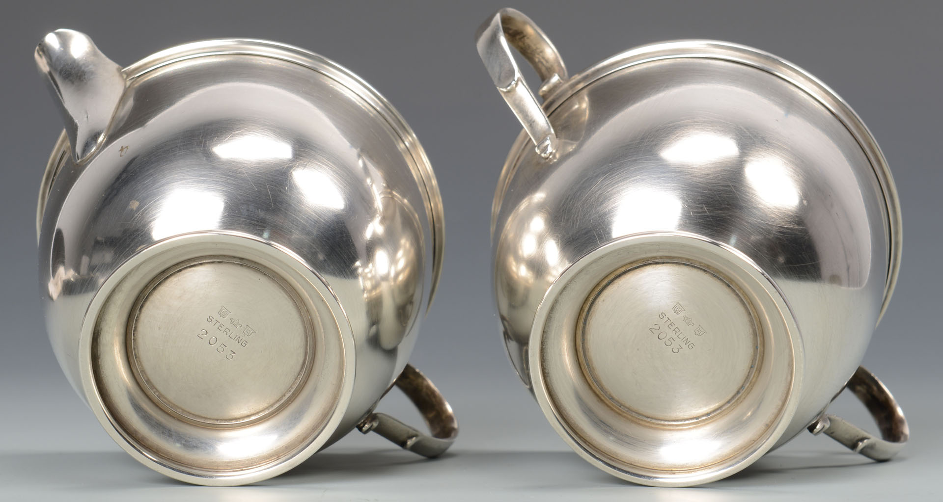 Lot 791: Misc. Sterling Silver inc. cream/sugar and flatwar