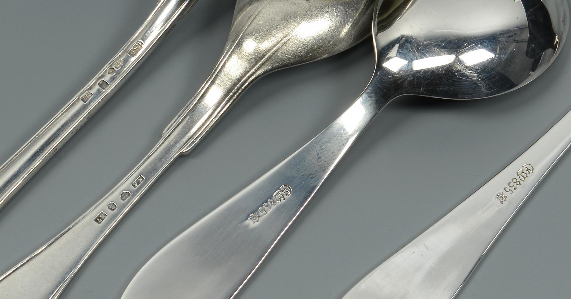 Lot 793: American & European Silver Flatware, 30 pcs.
