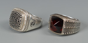 Lot 796: 2 David Yurman Men's rings