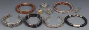 Lot 797: Group of John Hardy Men's Jewelry