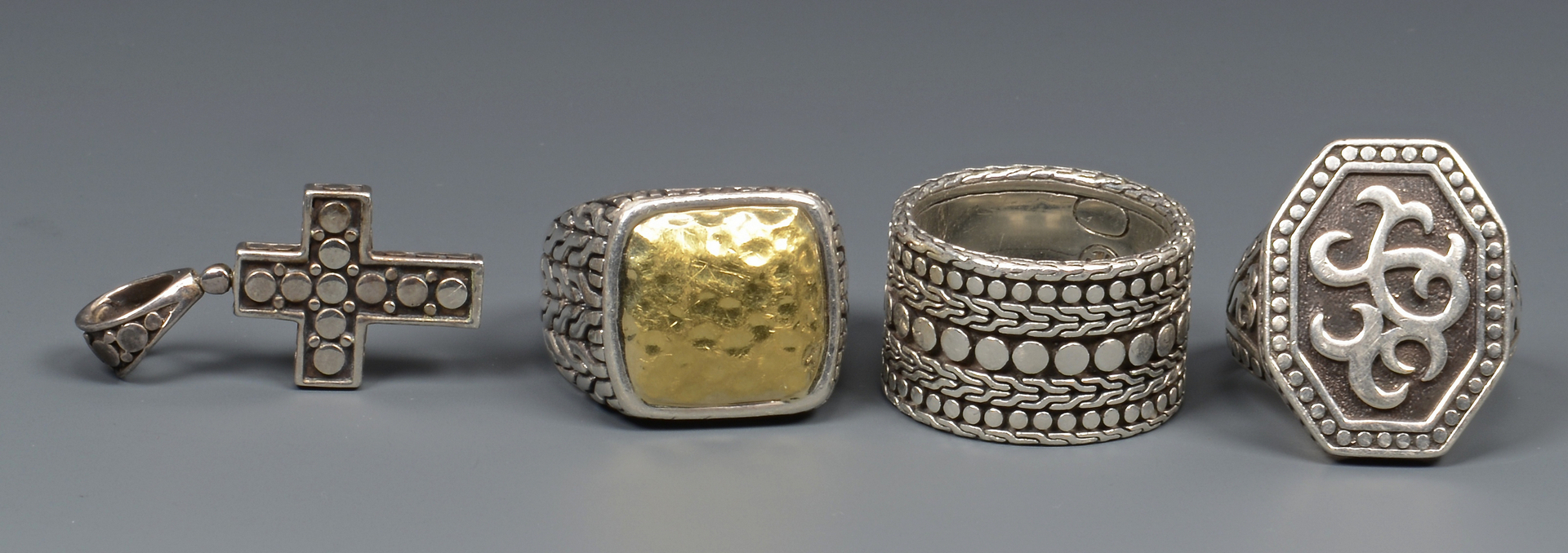 Lot 797: Group of John Hardy Men's Jewelry