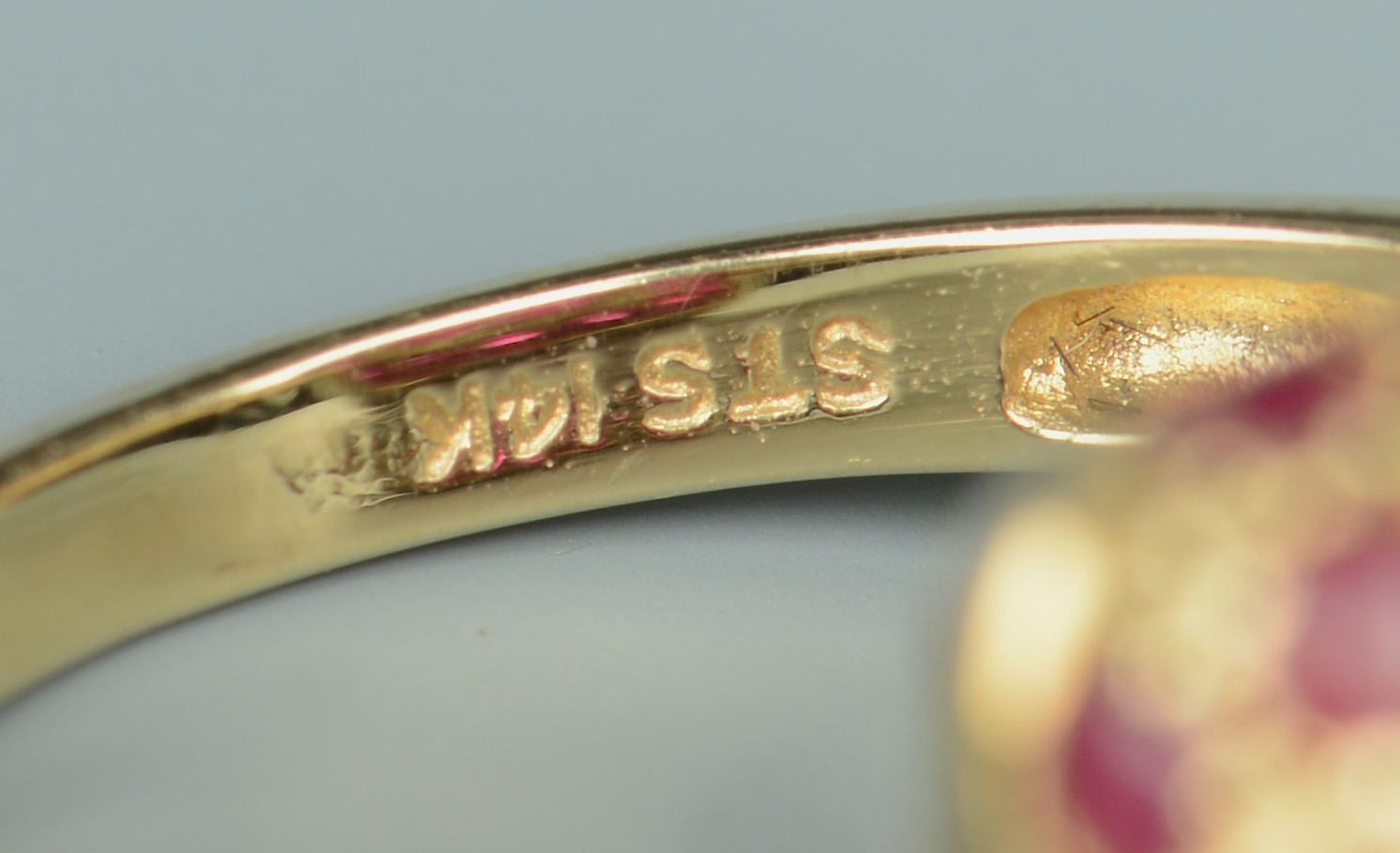 Lot 799: Two 14k Vintage style Rings