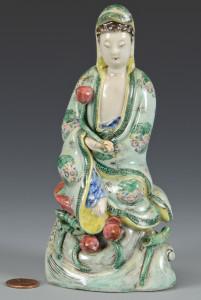 Lot 7: Famille Verte Guan Yin Figure