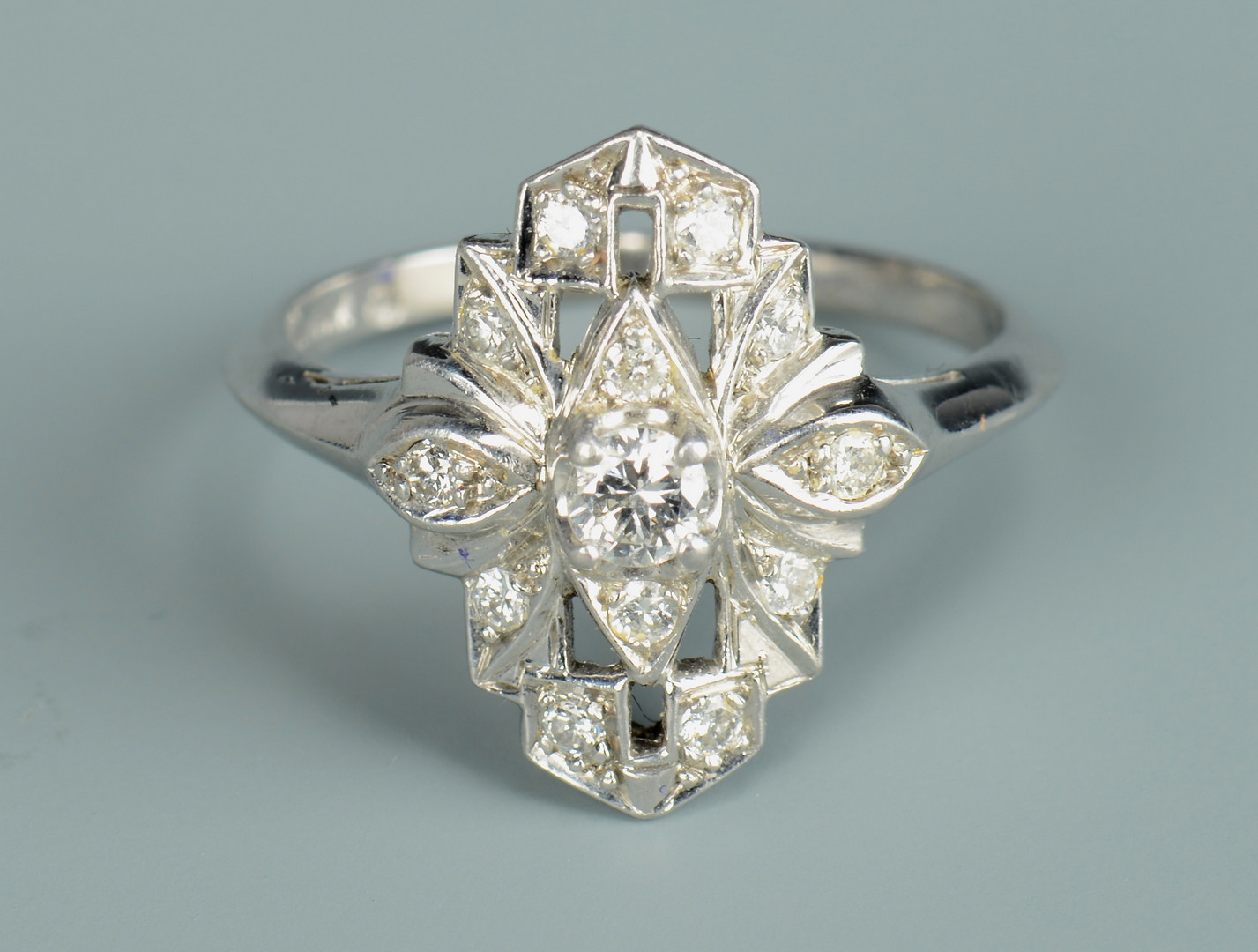 Lot 801: Two Art Deco style Rings