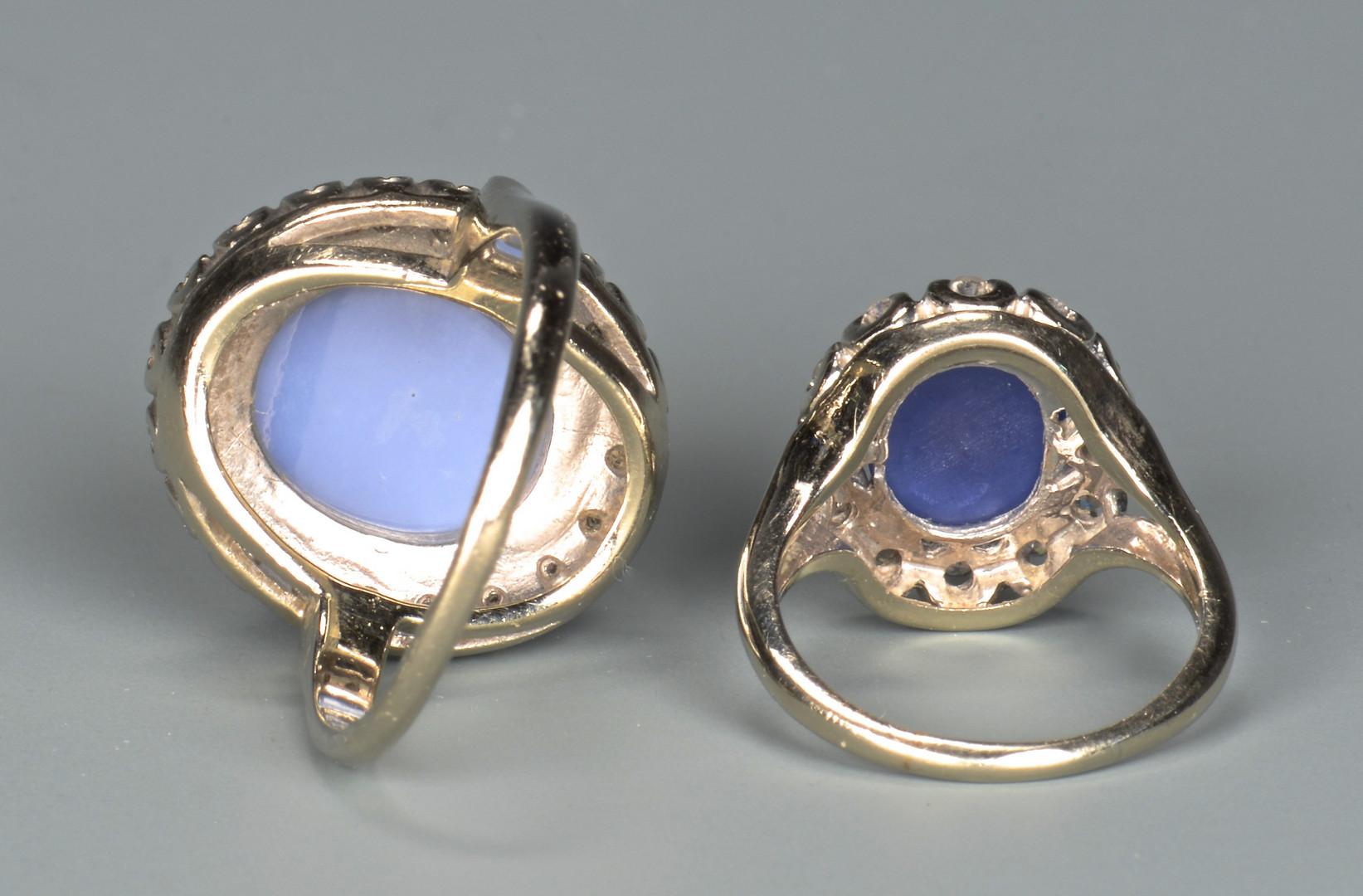 Lot 805: 2 14K Star Dia Sapphire Rings