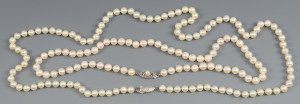 Lot 806: 2 Cultured Pearl Necklaces