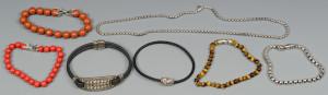 Lot 807: 7 David Yurman Jewelry Pcs.