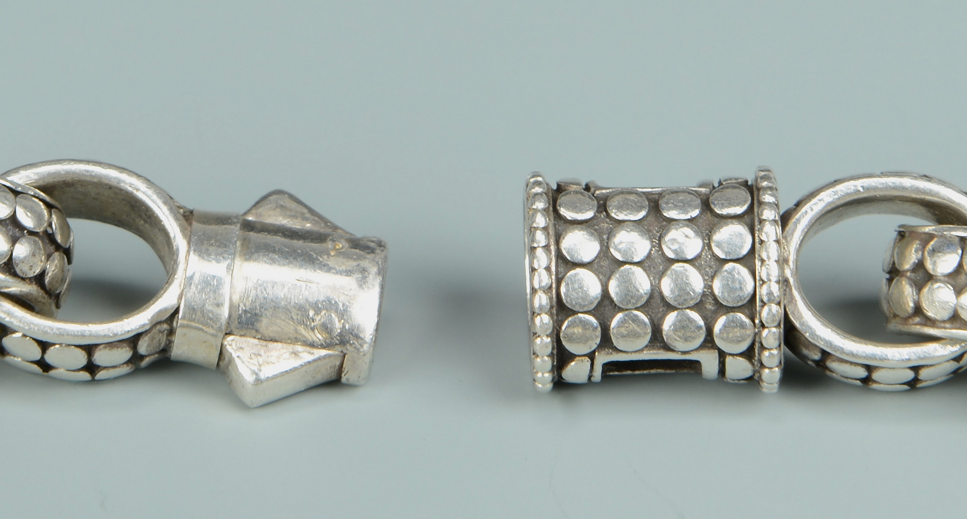 Lot 810: 2 Men's John Hardy Sterling Bracelets