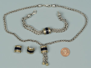 Lot 811: 3 Pcs. Ladies John Hardy Sterling & 18K Jewelry