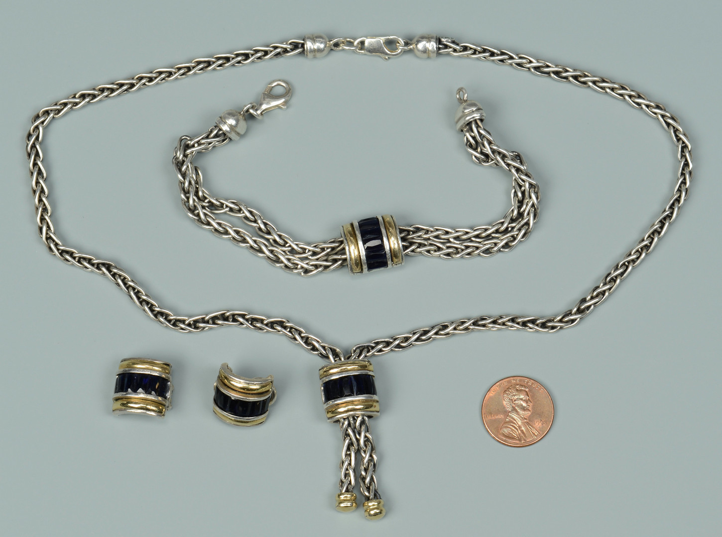 Lot 811: 3 Pcs. Ladies John Hardy Sterling & 18K Jewelry