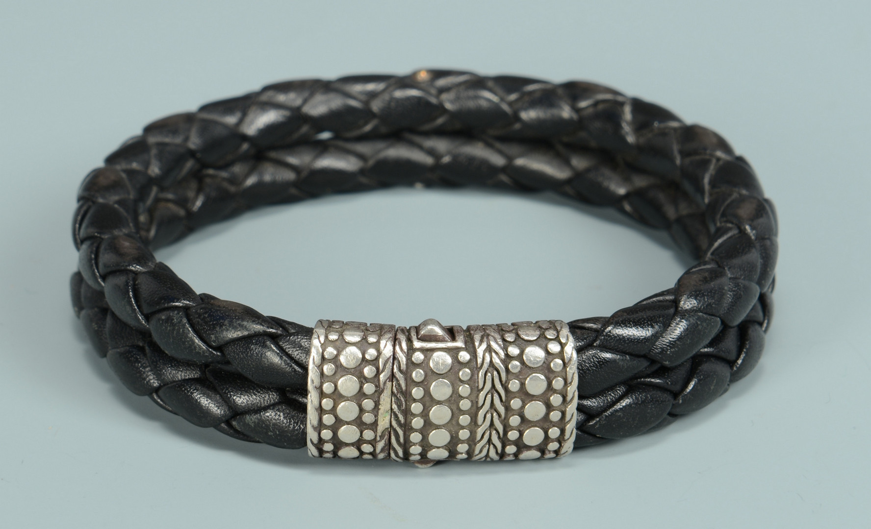 Lot 812: 2 Men's Designer Sterling Bracelets