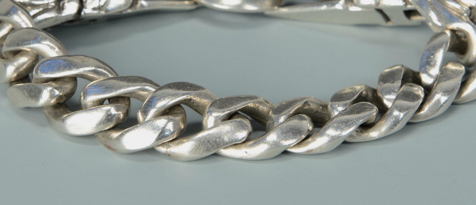 Lot 812: 2 Men's Designer Sterling Bracelets