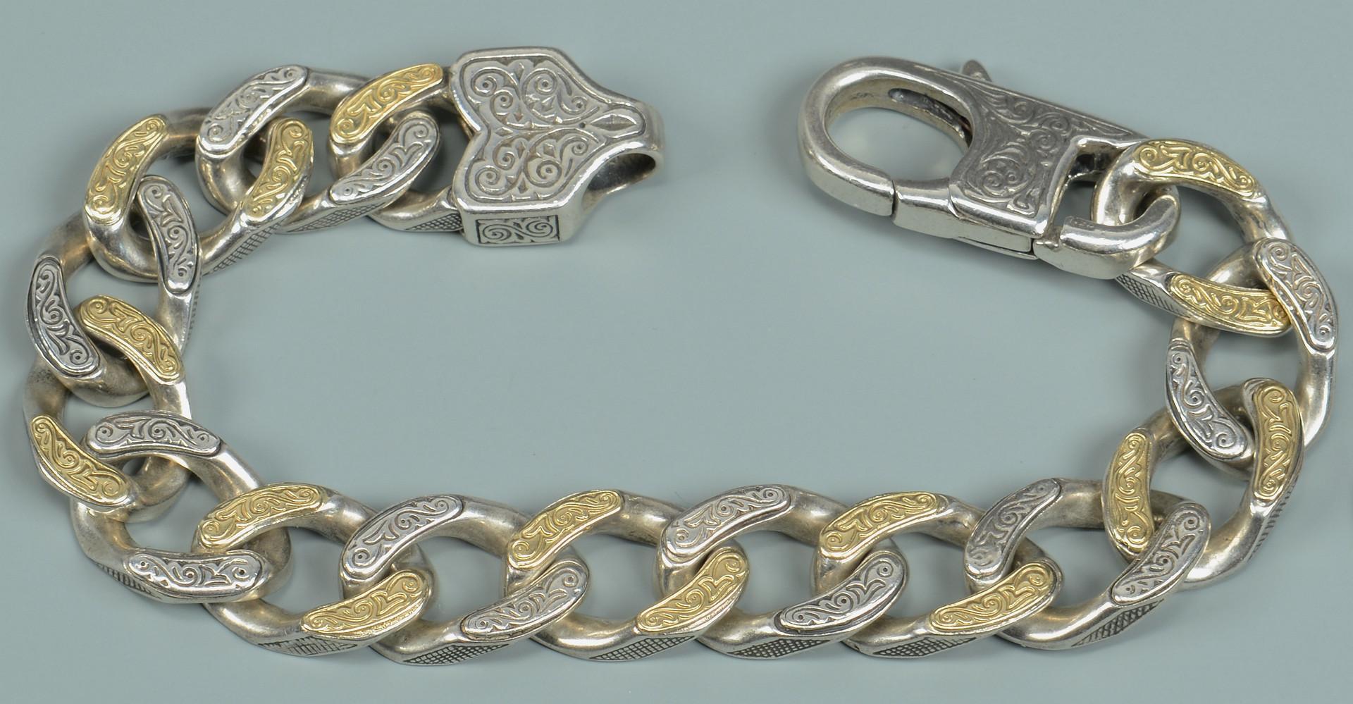 Lot 813: Konstantino Sterling & 14K Link Bracelet