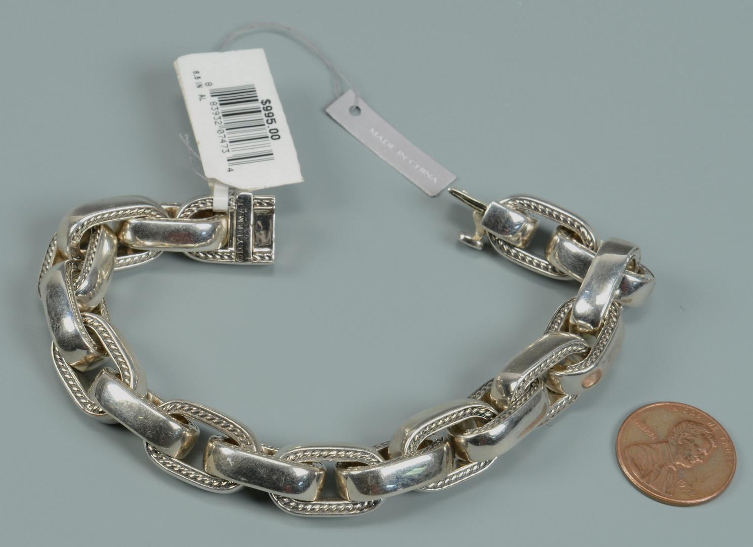 Lot 814: Yurman Sterling Men's Oval Link Bracelet