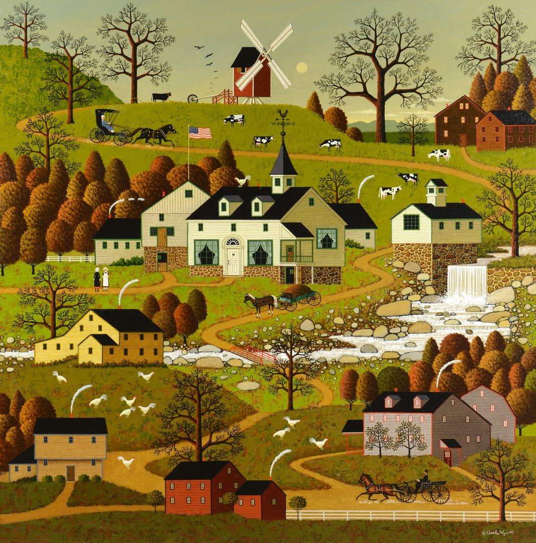 Cape Cod Christmas, by Charles Wysocki LIMITED EDITION CANVAS