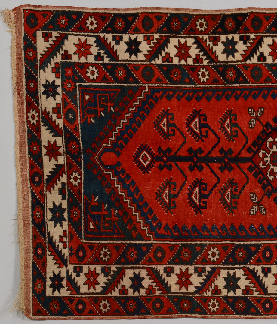 Lot 833: Semi-antique Caucasian Rug