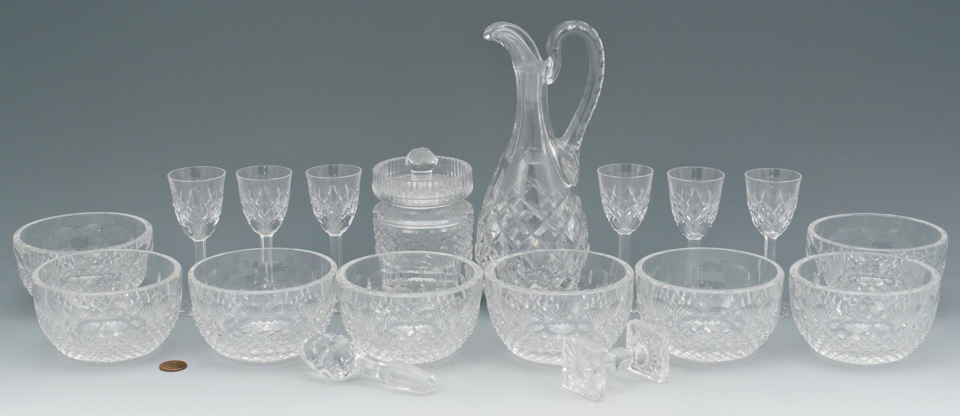 Lot 836: Cut Crystal Items, 18 total