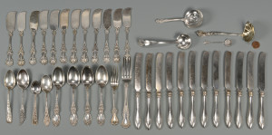 Lot 839: 38 pcs. American Flatware