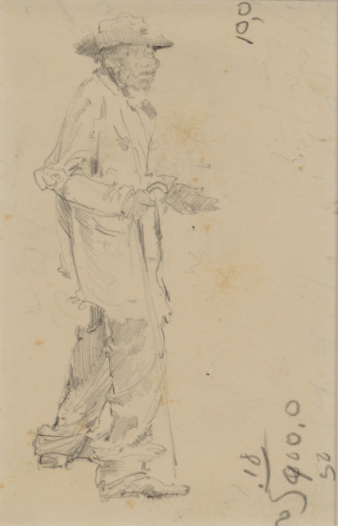 Lot 84: Two Alfred Hutty Figure Drawings & Book