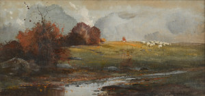 Lot 91: Lloyd Branson Watercolor & Pastel Landscape