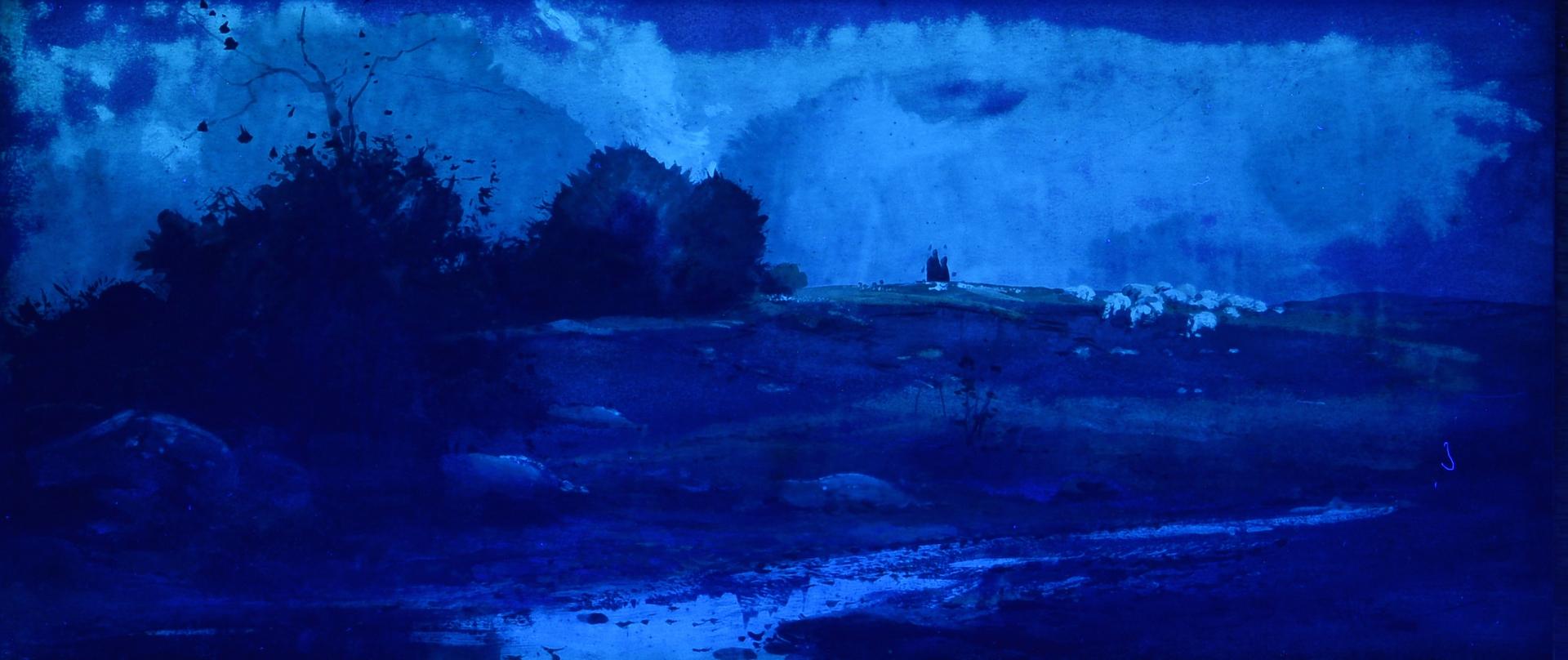 Lot 91: Lloyd Branson Watercolor & Pastel Landscape