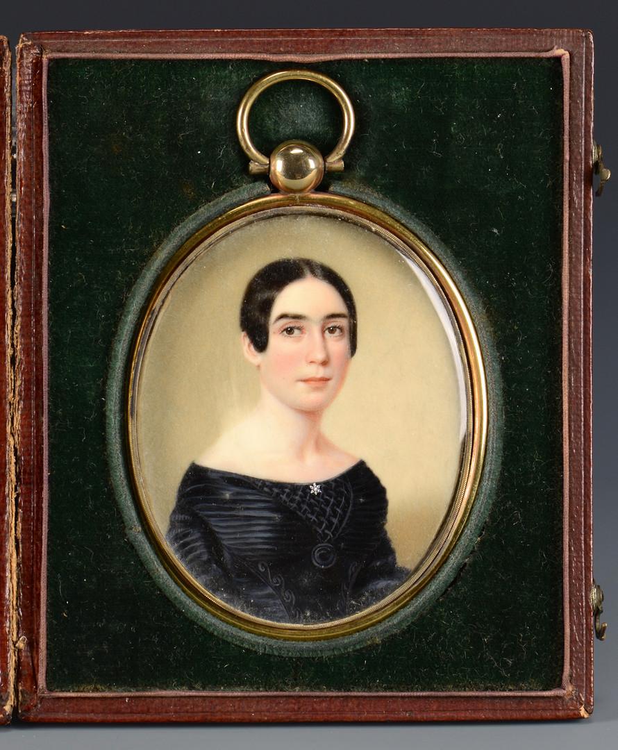 Lot 92: John Wood Dodge miniature, Mrs. Baker