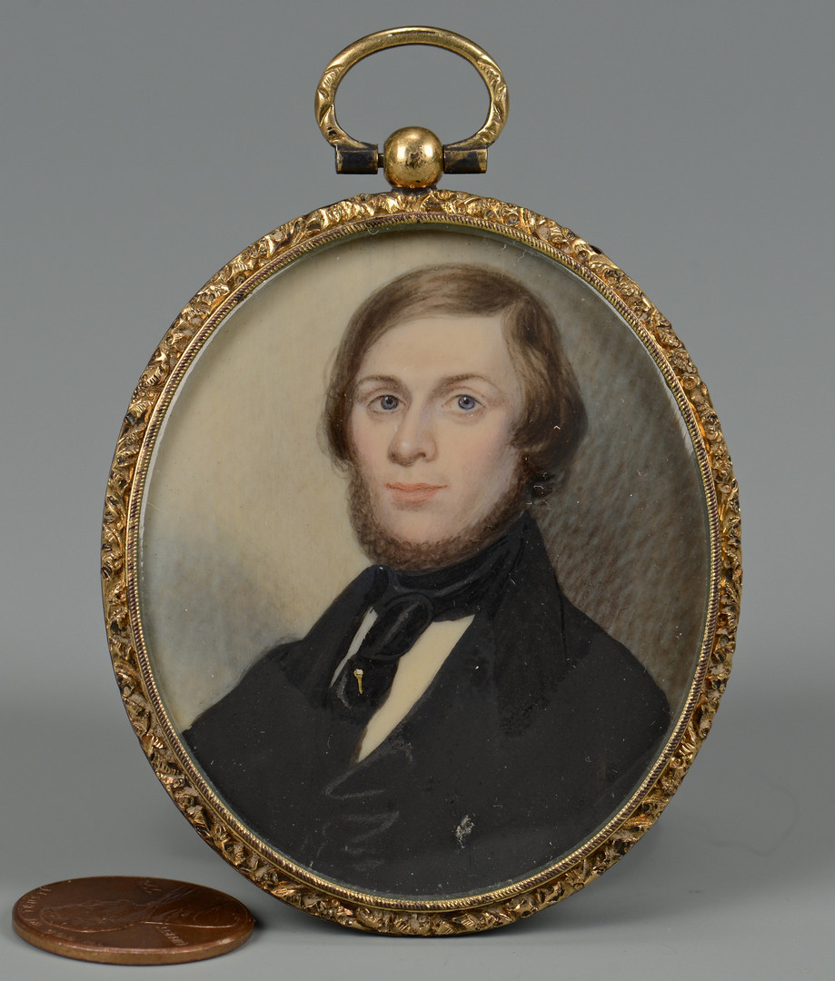 Lot 93: Southern Miniature Portrait of a Gentleman