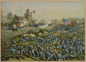 Lot 95: Battle of San Juan Hill Litho, Kurz & Allison