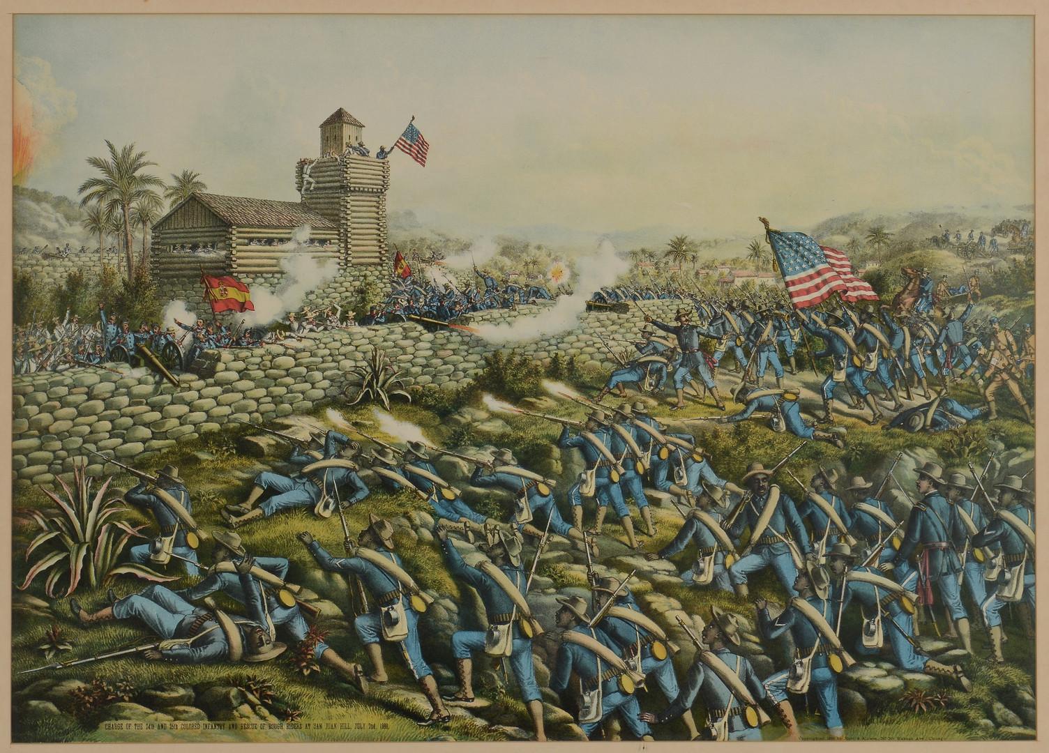Lot 95 Battle Of San Juan Hill Litho Kurz Amp Allison