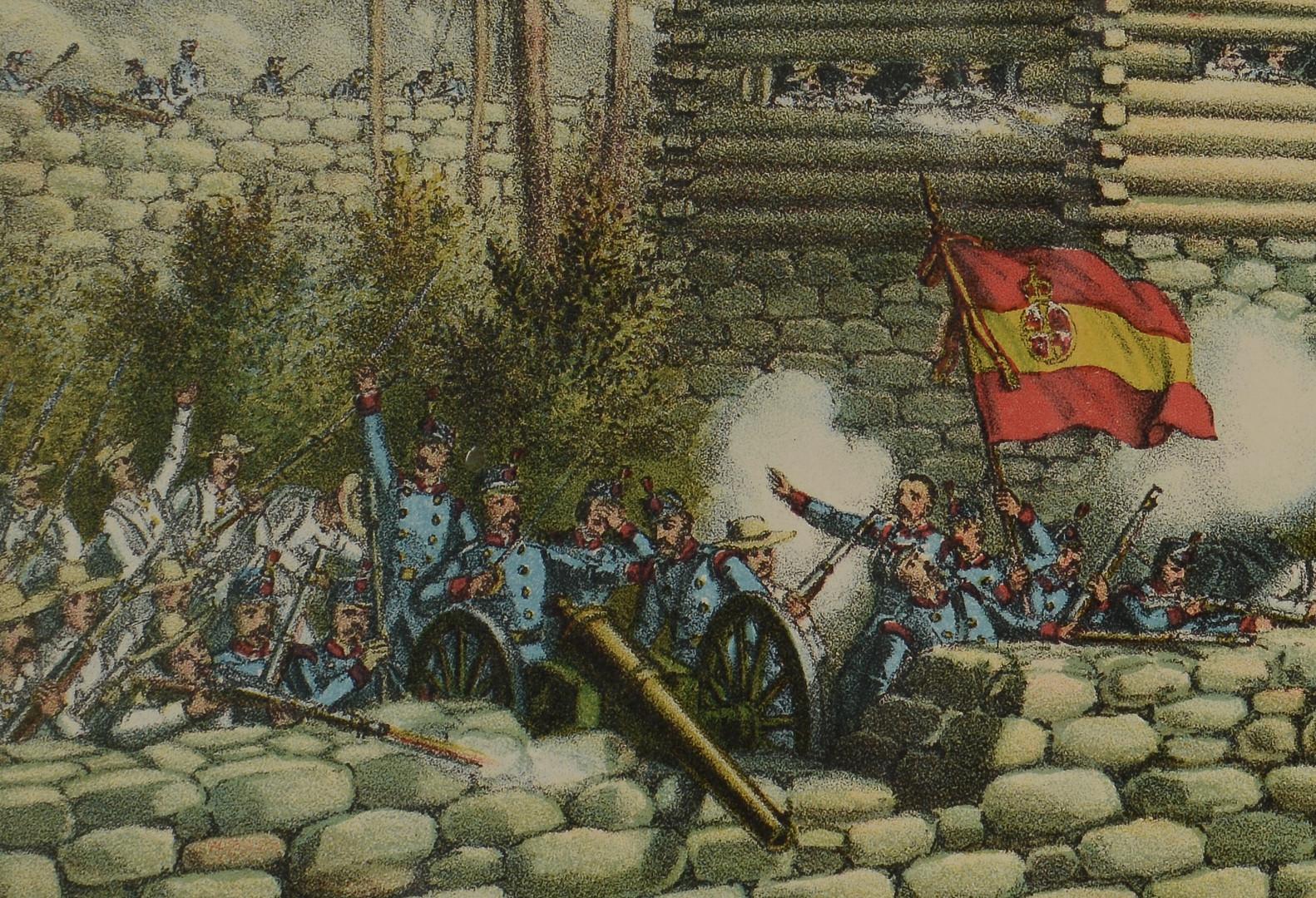 Lot 95: Battle of San Juan Hill Litho, Kurz & Allison