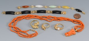 Lot 3594154: 14K Jewelry with dragon design