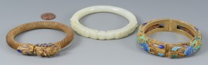Lot 3594155: 3 Chinese Bracelets inc. White Jade