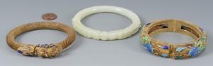 Lot 3594155: 3 Chinese Bracelets inc. White Jade